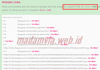 Cara Mengatasi Error Website Links di CHKME