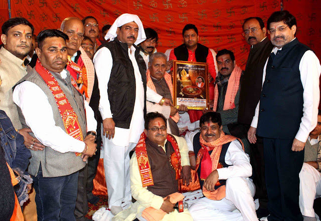 Organizing Chowk and Stores in the Presence of Mahant Shri 1008 Rajendra Giri Ji Maharaj