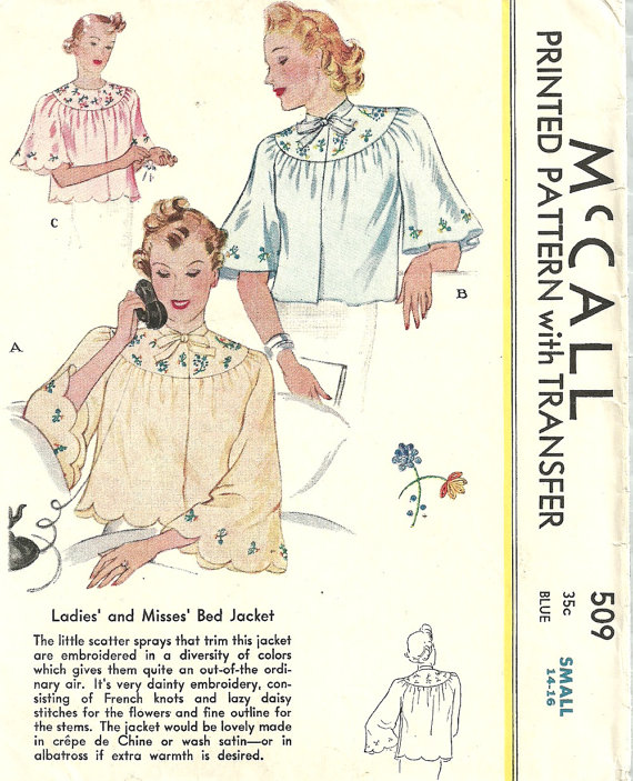 male pattern boldness: Whatever Happened to the Bed Jacket?