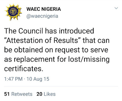 WAEC Result Attestation: Solution to Misplaced Original SSCE Certificates