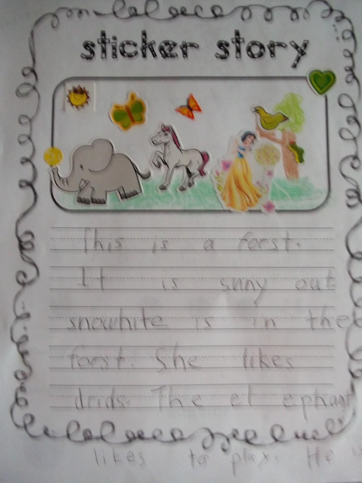 Sarah S First Grade Snippets Sticker Story Freebie A