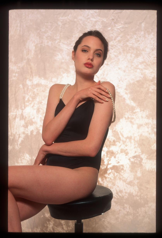 Rarely Seen Provocative Photos of a LingerieClad Angelina