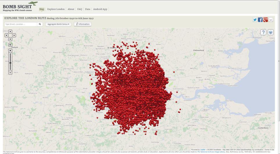 Moogle Gaps London Blitz Map