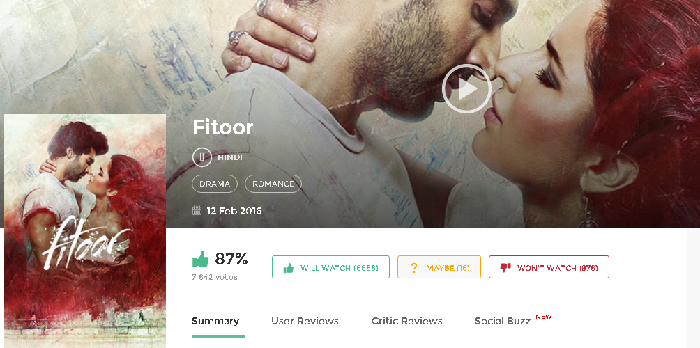 Fitoor 2016 Full Hindi Movie In Hd 720p Avi Mp4 3gp Hq