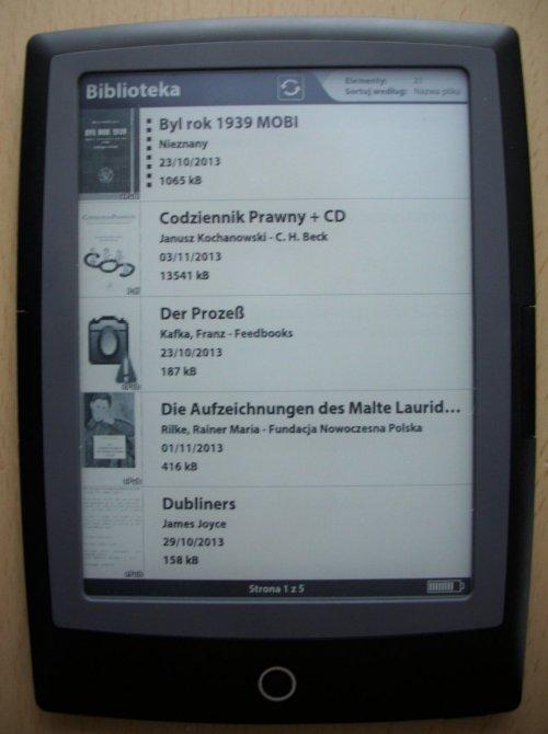 Cybook Odyssey HD Frontlight  - biblioteka w trybie ikon
