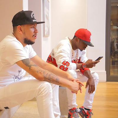 AKA and Diamond Platnumz hanging out together