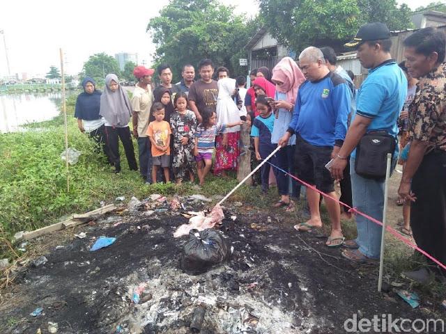 Detik-detik Warga Temukan Jasad Bayi Terbakar di Tumpukan Sampah
