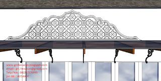 desain relief GRC motif India Rajastani