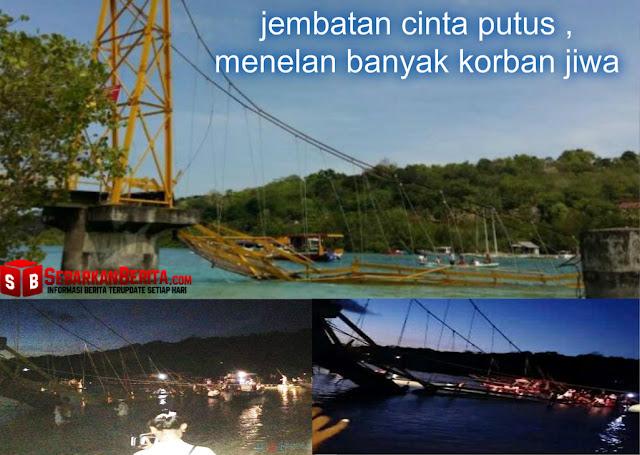 Mencekam, Begini Ketika Jembatan Cinta Putus dan Runtuh ke Tengah Laut, Telan Banyak Korban Jiwa