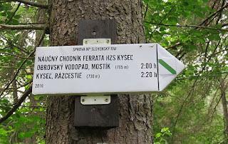 Náučný chodník ferrata HZS Kyseľ