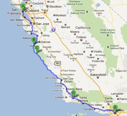 karta kalifornien Meanwhile, in the USA: Slutgiltig karta (körväg)   New York till  karta kalifornien