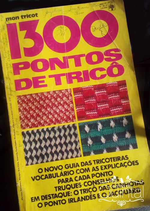 Revista 1300 pontos de tricô, uma raridade. Na Cozinha do Quintal