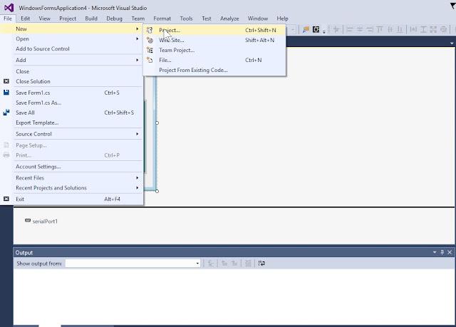 इसके लिए पहले Visual Studio को launch करें और new Project सेलेक्ट करें