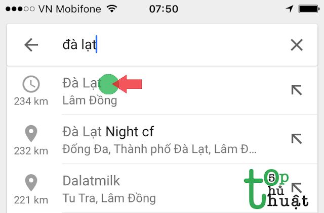 Cách sử dụng Google Maps không cần mạng trên điện thoại iPhone
