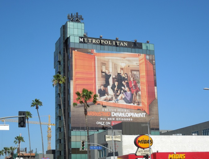 Arrested Development season 4 giant billboard
