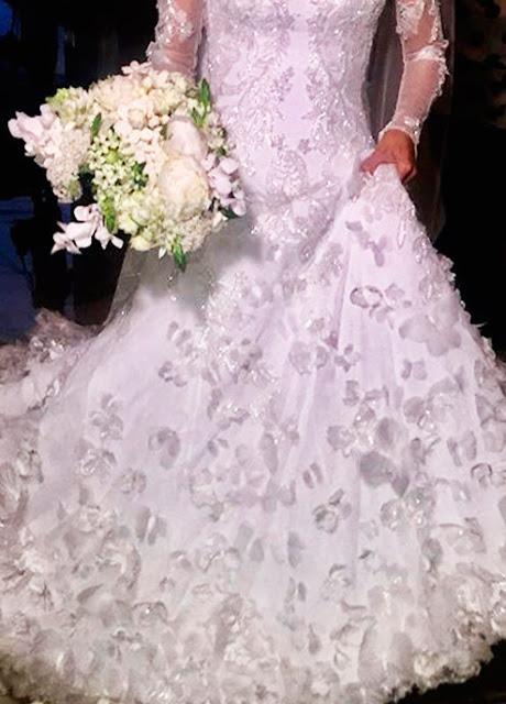 Lala Noleto vestido de noiva
