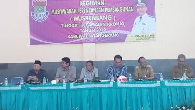 Musrembang Kecamatan Kronjo 2019, Majunya Wilayah Perlu Ditopang Semua Unsur