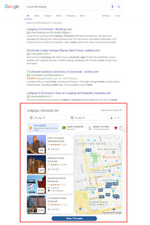 Google Local Pack highlighted in sample search results