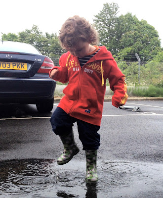 Day 173 of The 366 Project, puddle splashing