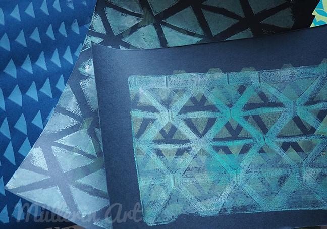 Dreieck-Druck, Gelliprint ©müllerinart