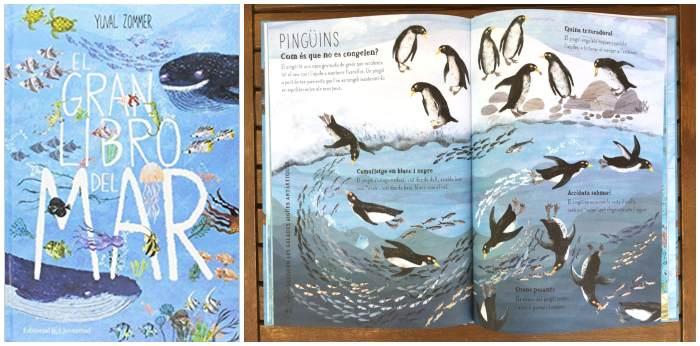 libros cuentos infantiles naturaleza, el gran libro del mar juventud yuval zommer