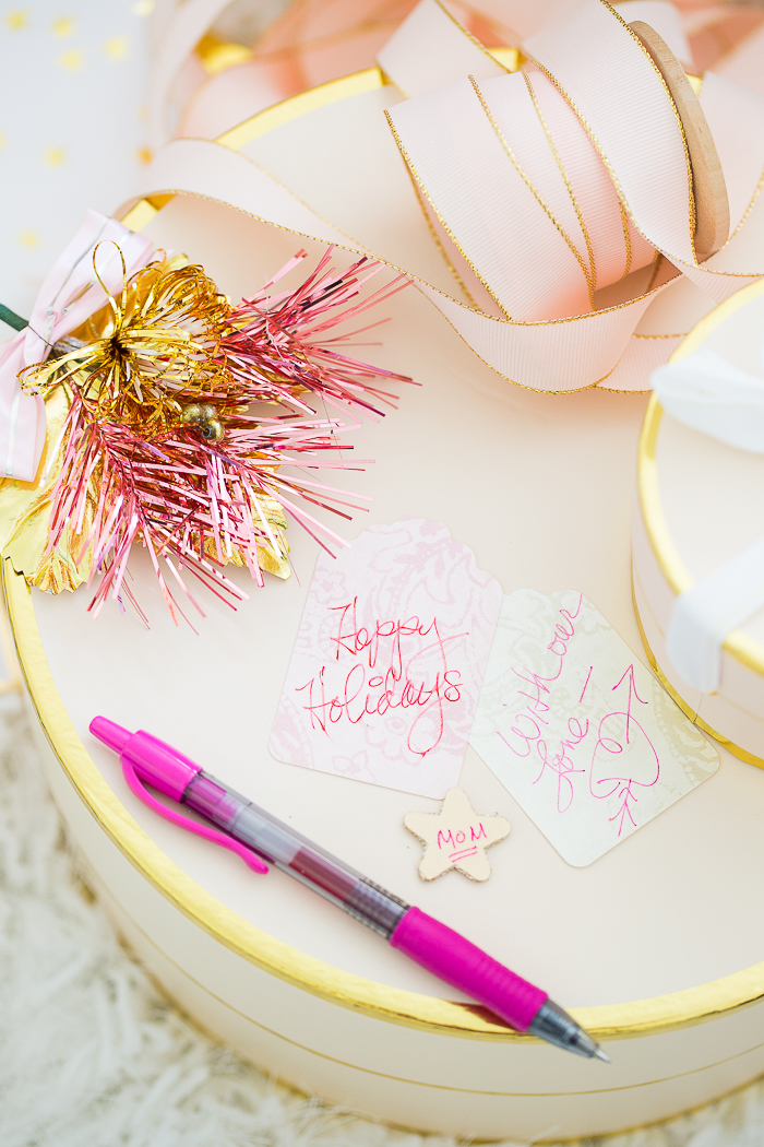 pretty holiday gift tags
