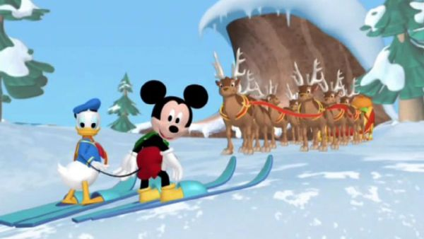 MICKEY MOUSE: It's Santa's sleigh