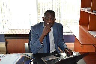 Dr. Ouma Olunga the Sec. General KMPDU in his office at KNH. PHOTO | Courtesy FB page