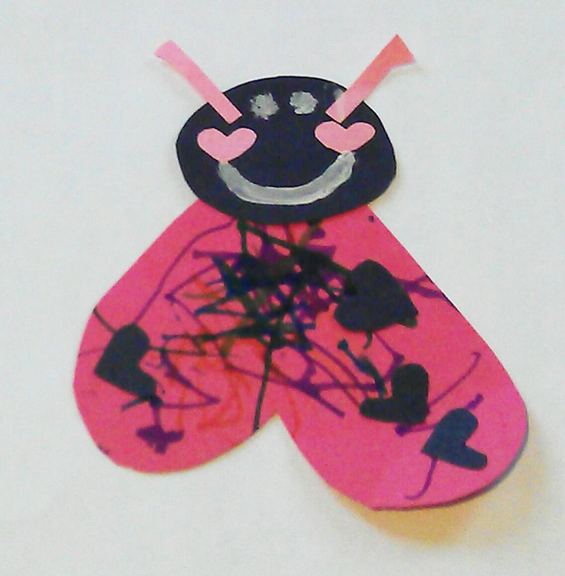 Ladybug valentine heart card craft preschool powol packets for Ladybug arts and crafts