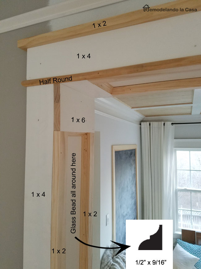 how to trim a doorway with materials used.
