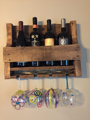#millsnewhouse, Coffee Bar, Wine Bar, painted furniture, pallet wood  wine rack