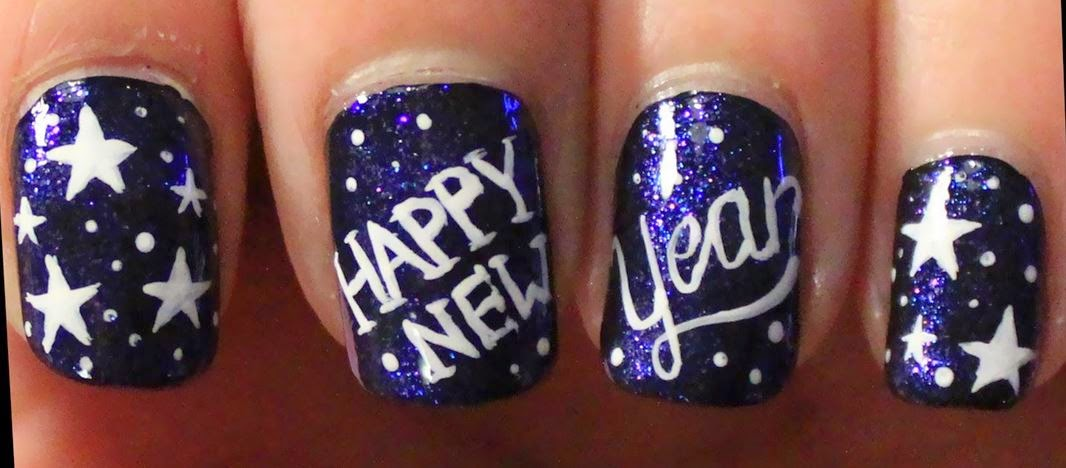 Happy New Year 2016 Nail Design Ideas Images for Ladies