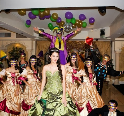 Mardi Gras theme party entertainment and decoration