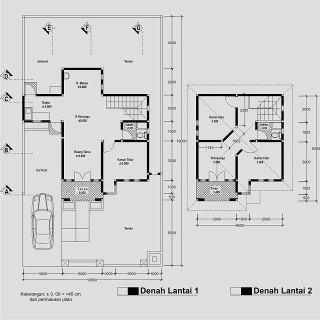 contoh gambar denah rumah untuk imb 4