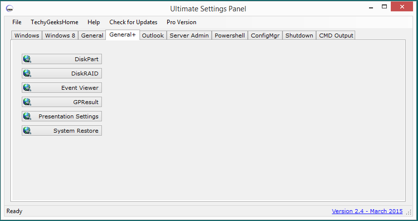 Ultimate Settings Panel version 2.4 Released 4