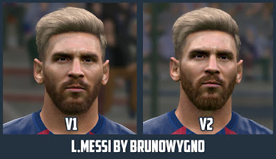 PES 2016 Lionel Messi Face by Bruno Wygno
