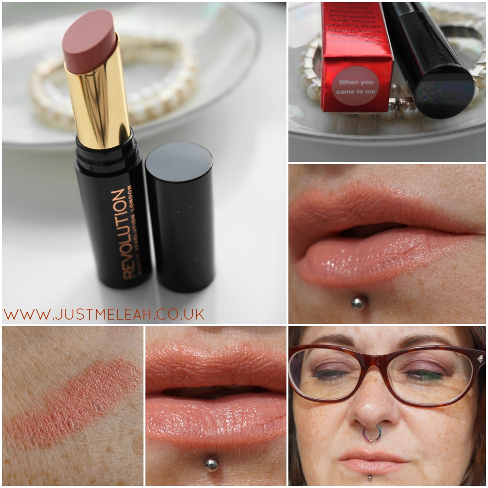 MAKEUP REVOLUTION LIP HUG SWATCHES WHEN YOU CAME TO ME