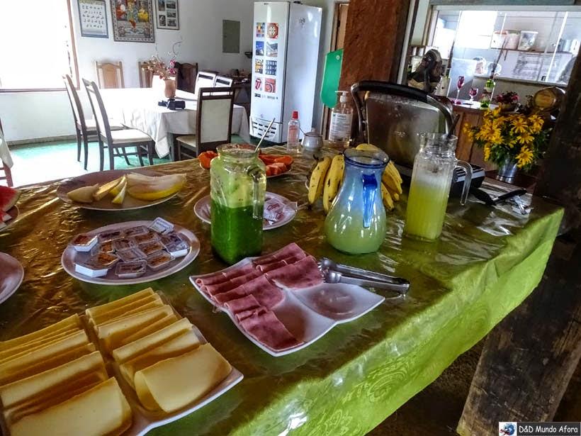 Café da manhã na Pousada Ecocentro Escarpas do Caraça - Onde ficar em Catas Altas