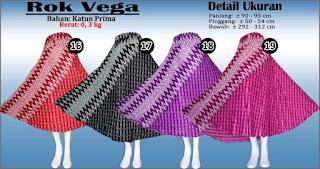 Rok lebar panjang nan mewah - Vega