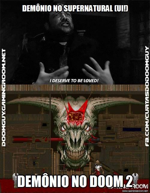 Comparação de demônios: Supernatural x Doom