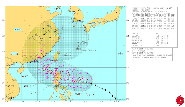 WARNING: 'Lawin' Expected To Be Stronger According To JTWC