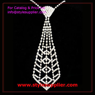 ladies rhinestone necktie