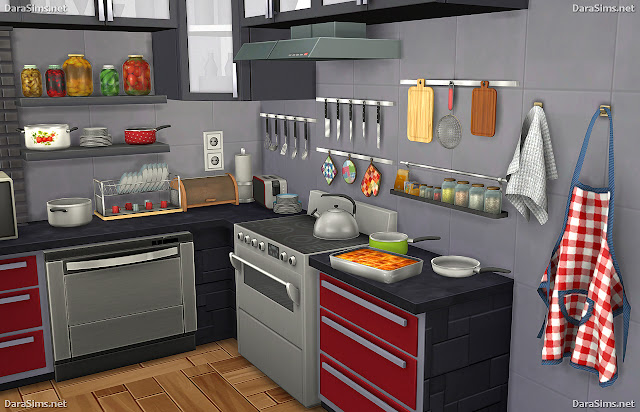 Sims 4 cc 39 s the best kitchen clutter and food decor by dara for Sims 2 kitchen ideas