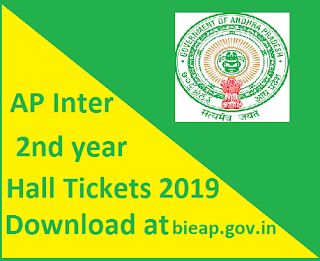 Manabadi AP Inter 2nd year Hall Tickets 2019 Download