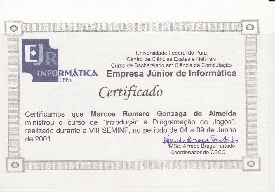 Romero Games Minicursos