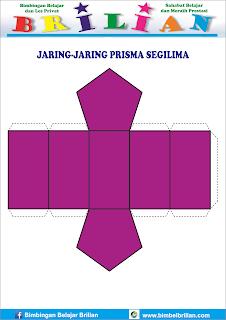 Gambar jaring-jaring bangun prisma segilima