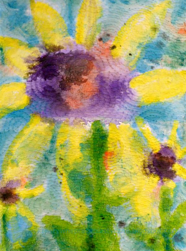 malowanie farbami na ręczniku papierowym
