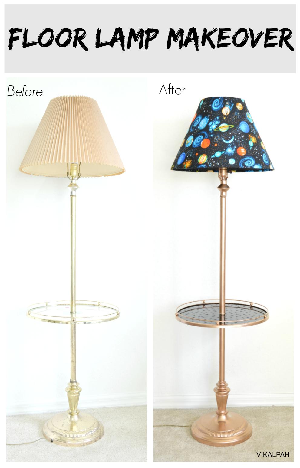 Vikalpah: Floor Lamp Makeover for Diy Floor Lamp Makeover  5lp5wja