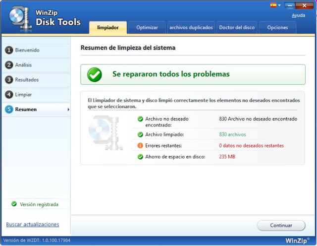 WinZip Disk Tools Full imagenes