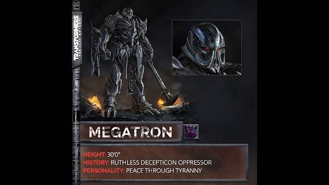 Transformers, Megatron, Movies